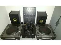 Pioneer cdj 800s full decks setup / dj turntables