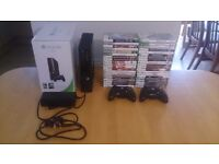 Xbox 360 E 250GB with 40 games, 2 controllers