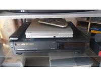 Panasonic VHS Player & Alba DVD Player