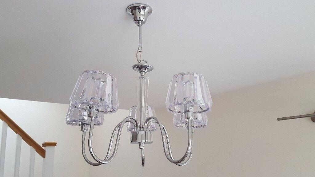 Pair of \'Bobo\' 5 light pendant ceiling lights by Homebase. | in ...