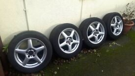 Alloy wheels and tyres 55 stud with good tyres