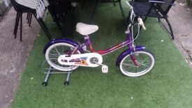 "Raleigh Genie girl's bike 16""; wheels SINGLE SPEED GOOD CONDITION"