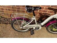 """Children's 18"""" bike with basket"""