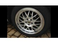 """Set of 4: 7x16"""" Cades Ero's Silver Alloy Wheels with Tyres"""