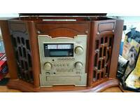Retro radiogram with Tape Deck and CD recording