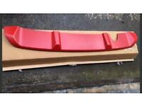 Clio 2013-17 red carbon splitter & defuser