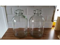 Wine Demijohns 5L large bottles clear glass container