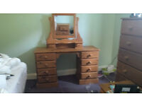 Solid Pine Dressing Table with Adjustable Mirror £150