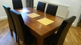 Dining Table, 6 chairs with matching TV stand and Coffee Table, Ex Condition