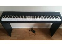 Yamaha P-45 Digital Piano, stand, pedal and Sennheisser headphones