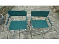 Two Director Style Garden Chairs - Offers