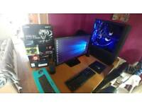 Custom Built Water cooled Gaming PC with Assesories