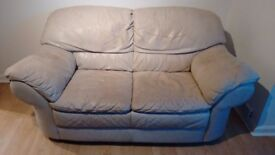Used 2-seater leather couch needs new home / £30