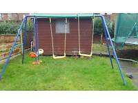 Double swing and seesaw set