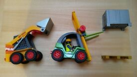 Playmobil Digger and Forklift