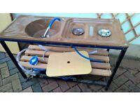 Camp stove & sink unit