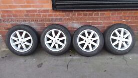 "15"" NISSAN ALLOY WHEELS AND TYRES SET OF 4 MAKE AN OFFER"