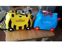 Trunki ride on suitcases x 2 (blue & yellow)