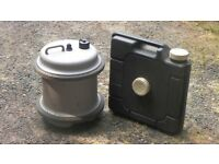 Caravan fresh and grey water containers