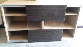 IKEA BESTA TV stand in birch colour with sliding door