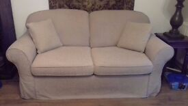 Loose Covers for Sofa Sofa, Madrid 2 x seater settee and bed settee, coffee or cream, buyer collects