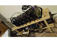 6x rx 570 mining rig 172MH/s+