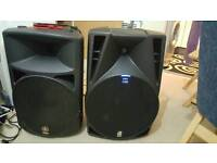Db technologies 15 inch and yamaha 12 inch Active speakers