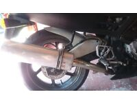 CBR 600 end can and link pipe