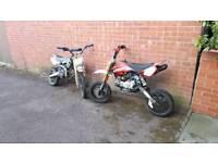 Stomp 140 and mr2 racing 125 pitbike