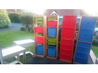 ikea wardrobes storage and desks excellent condition all for £100
