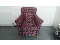 Beautiful Sofa,chair,Electric fire, Standard lamp (Next) 4 items.