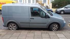 Ford transit connect metalic sky blue van