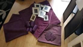 Purple and silver accessories