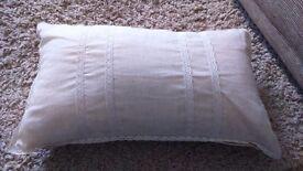New - Cream rectangular cushion from Next