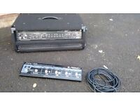 PEAVEY BAM Amp Amplifier Head and pedal board for Bass Guitar, great with a Fender