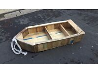 Rustic Boat Shape Bookcase or Garden Feature