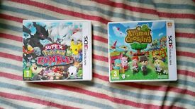 Super Pokemon Rumble + Animal Crossing New Leaf 3DS