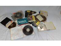 Lot of magnetic tape reel - Scotch etc