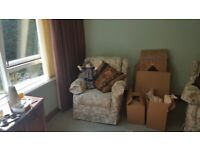 3 piece furniture set - 3 seater settee and 2 chairs