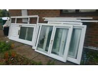 £250 for a full house set of white Pvc windows door patio door all double glazed