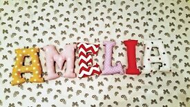 Hand Made Fabric Letters - Kids room decorations