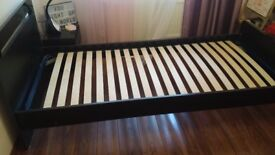 Standard black single bed in a very good condition £20 for sale