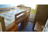 Tesco Harvey Sleepstation cabin bed and wardrobe in pine