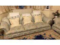 7 seat sofa set blue