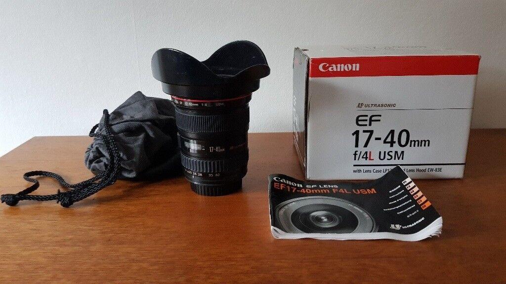 Canon 17-40 L Lens 'Mint' condition