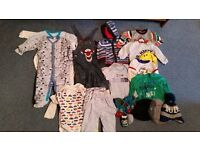 Bundle of 9-12mths baby boy clothes.