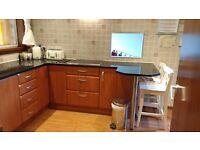 Kitchen units, appliances and quartz worktop