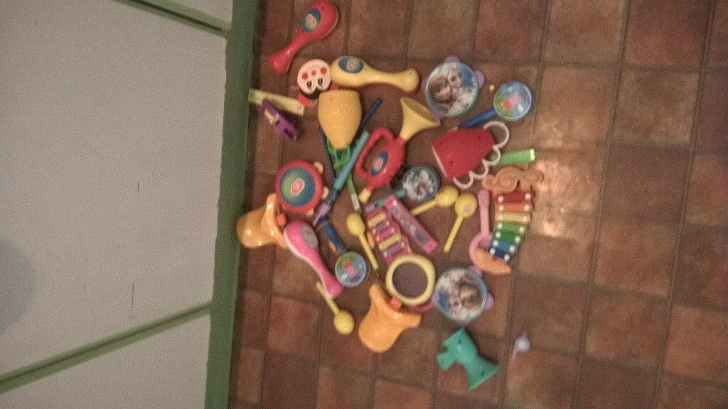 selection of musical toysin Clifton, NottinghamshireGumtree - Selection of musical toys,trumpet xylophones harmonica tamborines whistles ect all for £1 collection only