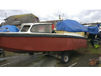 17ft Fishing boat with trailer