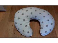 Widgey Donut Nursing Pillow, Silver Star from John Lewis